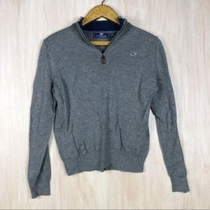 Vineyard Vines Quarter Zip Pullover Cotton Sweater